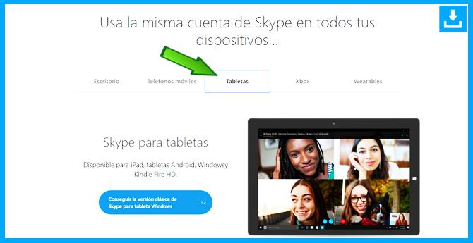 Cómo descargar Skype para Tablets