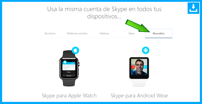 Como descargar Skype para Apple Watch o Android Wear