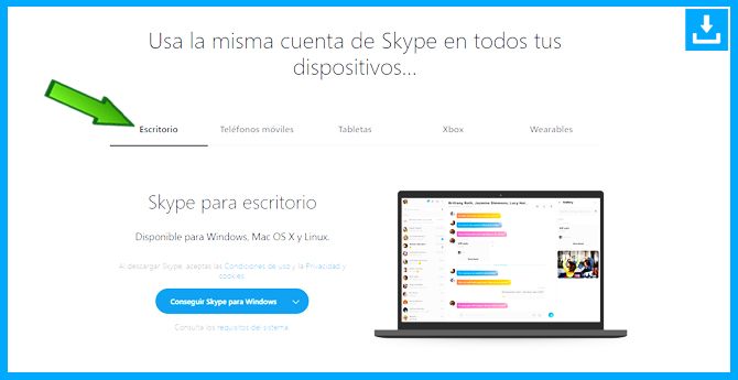 Como descargar Skype para PC windows
