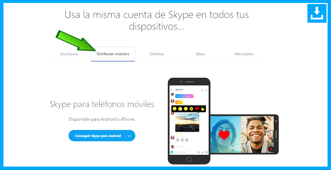 Como descargar Skype para Smartphone telefono movil