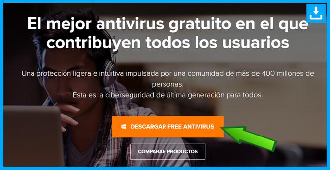 Primer paso para descar Avast Free Antivirus