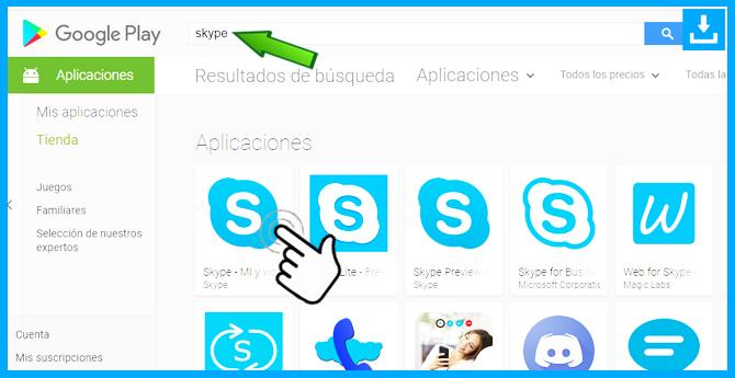como descargar Skype desde la play store