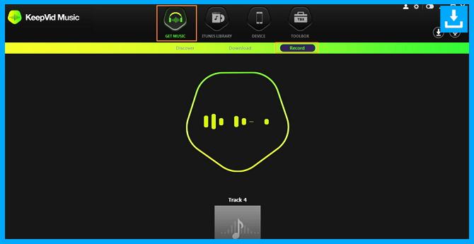 Descargar música del registro spotify click