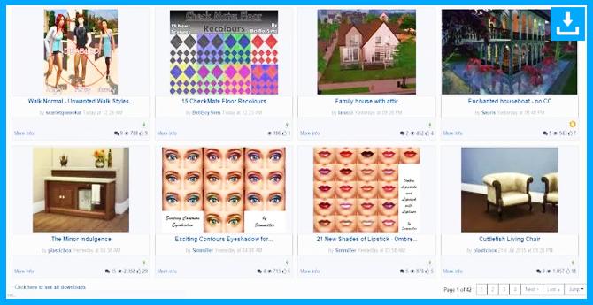 Modthesims info es uno de los mejores sitios para descargar CC y Mods para Sims