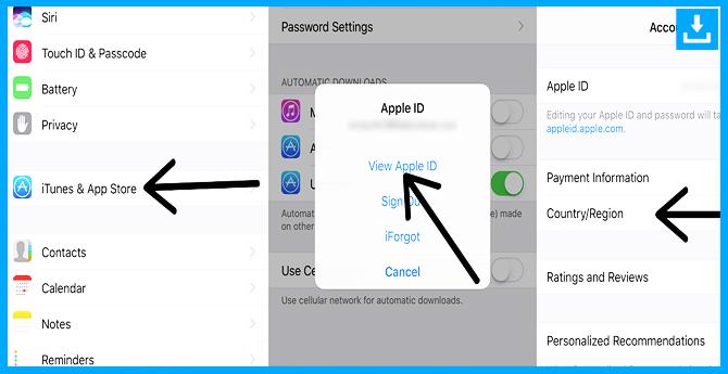 cambiar el ID de la región en applepara descargar Brawl Stars
