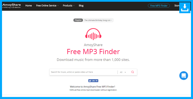 Descarga de música MP3 gratis con Free MP3 Finder