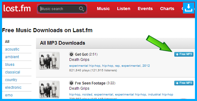 Descarga los Mp3 de Last fm