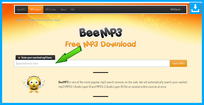 Música MP3 gratis con BeeMP3