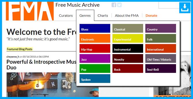 Mp3 para músicos aficionadosFreeMusicArchive