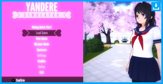 Comienza a jugar al juego Yandere Simulator