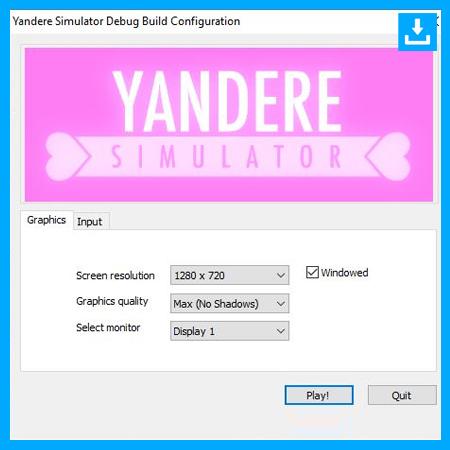 Configura los ajustes del juego Simulador Yandere
