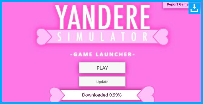 instalar y abrir el archivo de descarga del Yandere Simulator